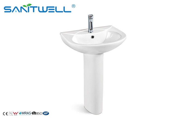 Sink- artificial stone bathroom pedestal basins 520*440*810mm Size